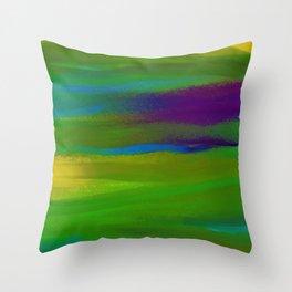 Green Mardi Gras Abstract Throw Pillow