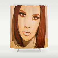 spice Shower Curtains featuring Posh Spice by The Expression Studio