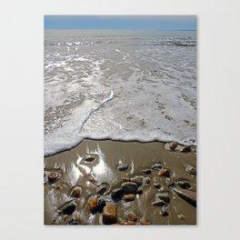 Tide Going Out at Horseneck Beach ~ Westport, MA Canvas Print