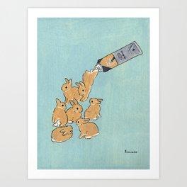 BUN of RAW SIENNA Art Print