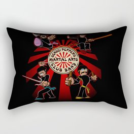 Sensei Pepper's Martial Arts Club Band Rectangular Pillow