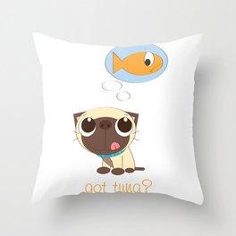 BellaRina - Got Tuna? Throw Pillow