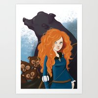 merida Art Prints featuring Merida by Sophie Cappellari
