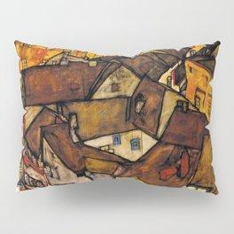 """Egon Schiele """"Krumau - Crescent of Houses (The small City V)"""" Pillow Sham"""