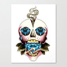 Diamond Skull Canvas Print