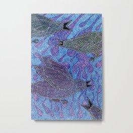 Crows in the Rain Metal Print