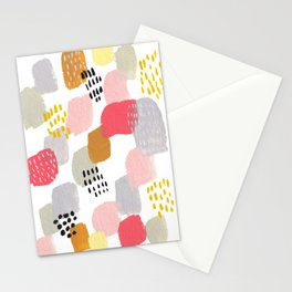 Artistic abstract brush strokes in pastels Stationery Cards
