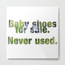 Baby shoes for sale.  Never used. Metal Print