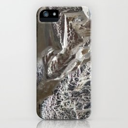 Silver Crystal First iPhone Case