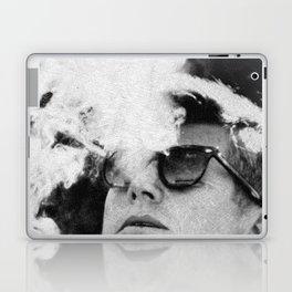 Cigar Smoker Cigar Lover JFK Gifts Black And White Photo T Shirt Laptop & iPad Skin