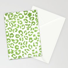 Modern green watercolor leopard  ombre greenery color of the year pattern Stationery Cards