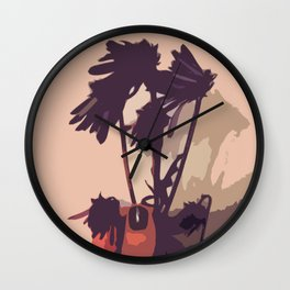 Flowers for a Brother Wall Clock