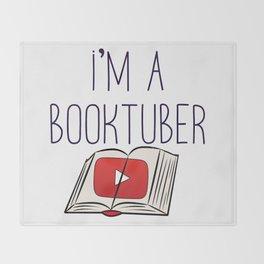 I'm a Booktuber Throw Blanket