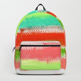 Dream Big - abstract colorful stripes Backpack