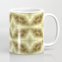 coasters Mugs featuring Abstract Gold Pattern by Lena Photo Art