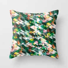 Roses and Triangles Throw Pillow
