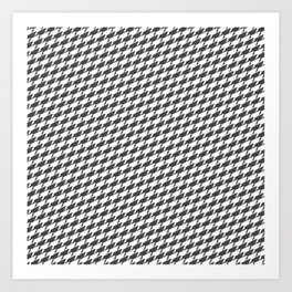 Sharkstooth Sharks Pattern Repeat in White and Grey Art Print