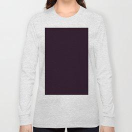 Simply Deep Eggplant Purple Long Sleeve T-shirt