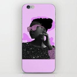 Rock Star Glitter Collage iPhone Skin
