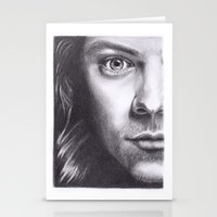 harry styles Stationery Cards featuring Harry Styles by Jen Eva