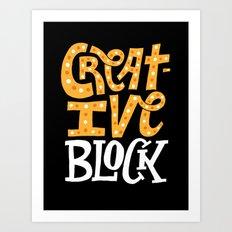 Creative Block Art Print
