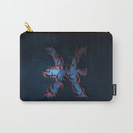 Pisces Zodiac Sign. Abstract night sky. Carry-All Pouch