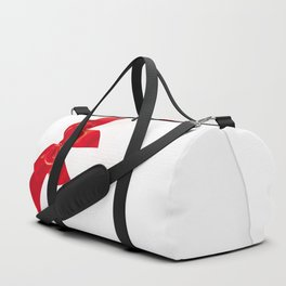 Card with red bow Duffle Bag