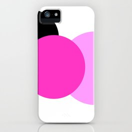 Pink Orchid Black Mod Circles iPhone Case