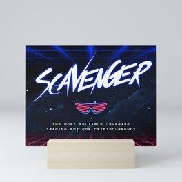 Scavenger Bot Booth Backdrop Mini Art Print