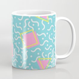 TOTALLY RAD 80s / 90S RETRO CALIFORNIA PATTERN Coffee Mug