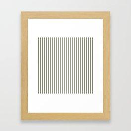 Wheelbarrow Grey Pinstripe on White Framed Art Print