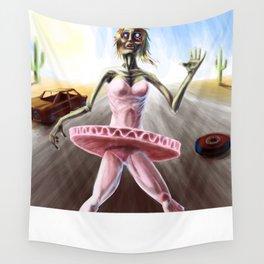 Zombie Ballerina Wall Tapestry