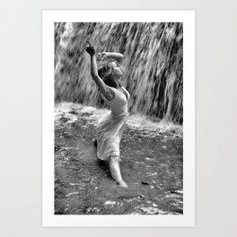 Waterfall Dancing Art Print