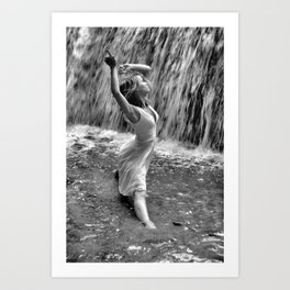 Waterfall Dancing Art Print