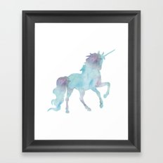 Watercolor Unicorn Framed Art Print