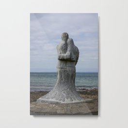 Vigil Sculpture by Ciaran O'Brien on the Memorial Trail at Kilmore Quay. Metal Print
