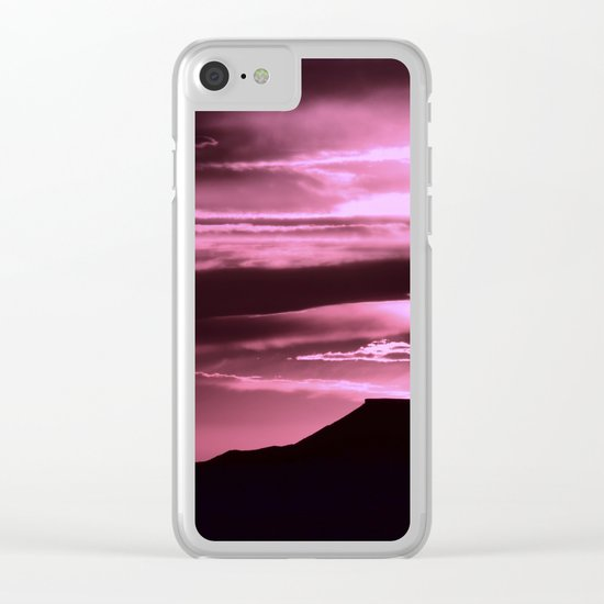 SW Rose Mesa Sunset Clear iPhone Case