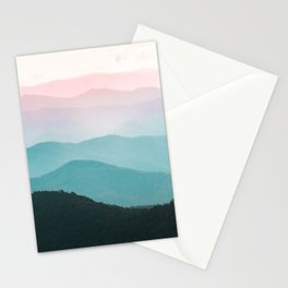 Smoky Mountain National Park Sunset Layers III - Nature Photography Stationery Cards