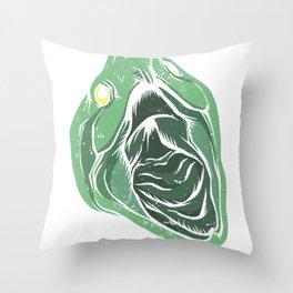 biting turtle Throw Pillow