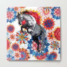 Hippie Horse Metal Print