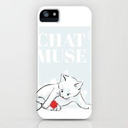 chaton iPhone Case