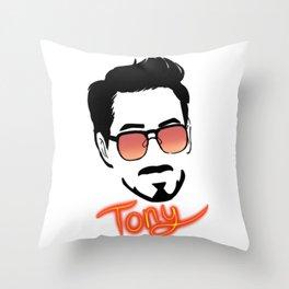 Tony Stark (Graphic) Throw Pillow