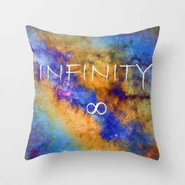 Infinity stars in Sagittarius constelation ∞ Throw Pillow