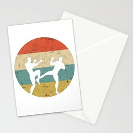 Kickboxing Muay Thai Vintage Gift for Martial Arts Fighters Stationery Cards