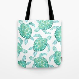 Sea Turtle Pattern - Blue Tote Bag