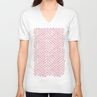 scales V-neck T-shirts featuring Pink Scales by Jessie Prints Stuff