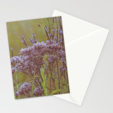 Summer Botanical Meadow Marsh with Joe Pye Weed and Blue Vervain Wildflowers Stationery Cards