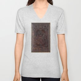 Ancient Leather Book Unisex V-Neck