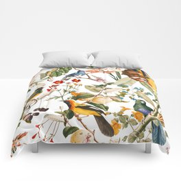 Floral and Birds XXXII Comforters