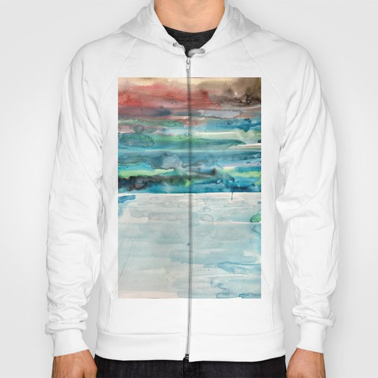 Miami Beach Watercolor #5 Hoody